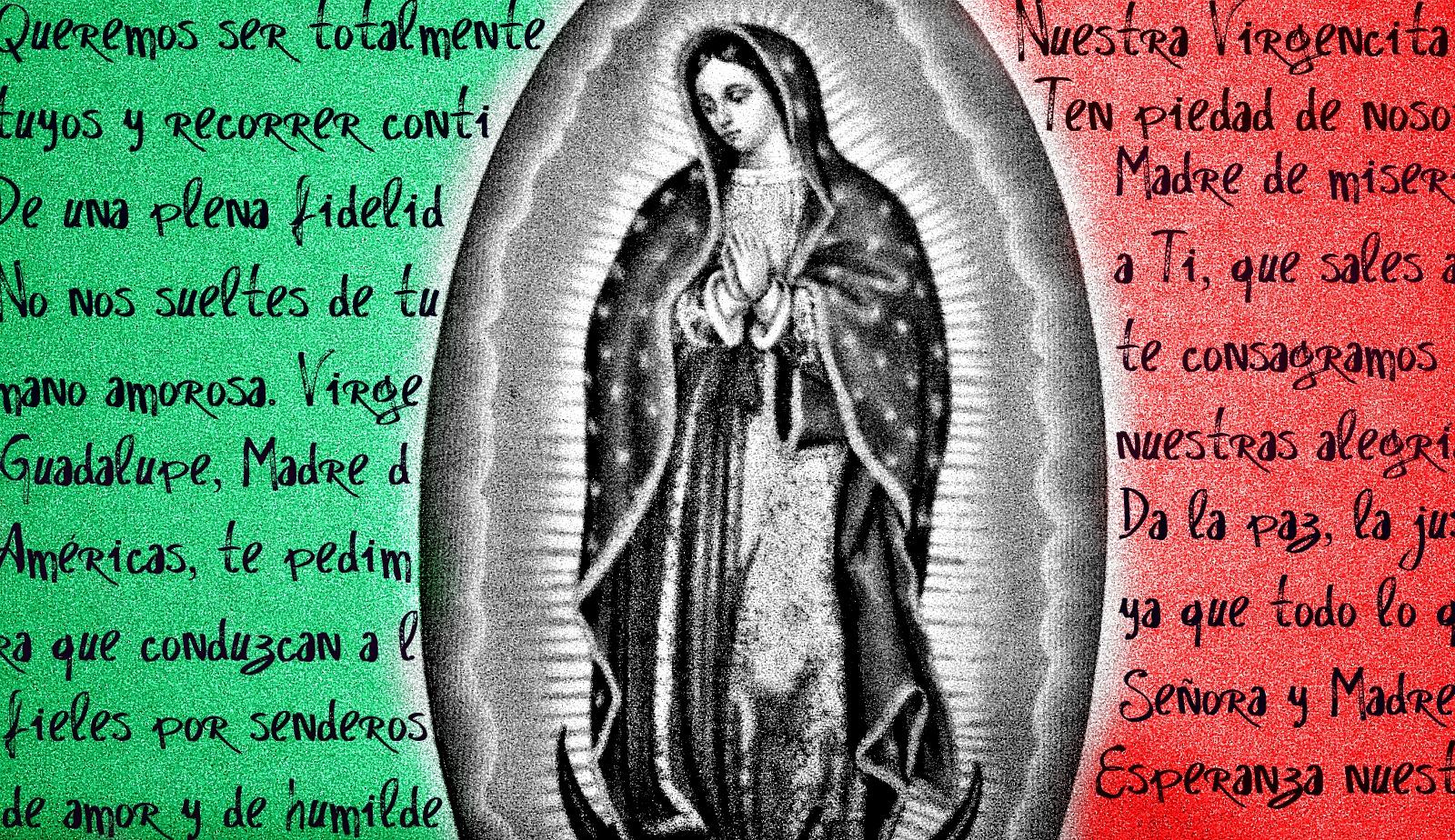 Virgen de Guadalupe - bandera mexicana theme