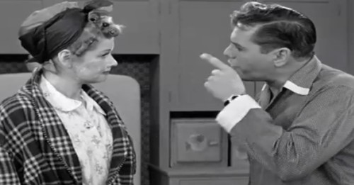 Ricky and Lucy fight on I Love Lucy