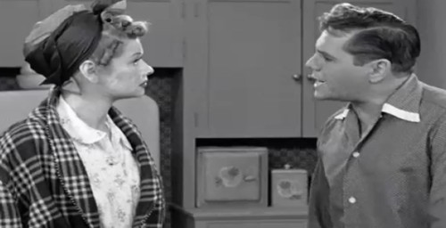 Lucy Ricky argue I Love Lucy