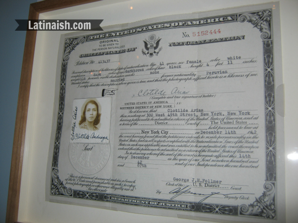 Arias became a naturalized U.S. citizen in 1942.