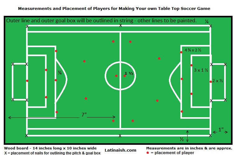 How To Make Your Own F 250 Tbolito Table Top Soccer Game