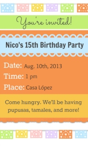 This is an example of what your invitation could look like once you add text!