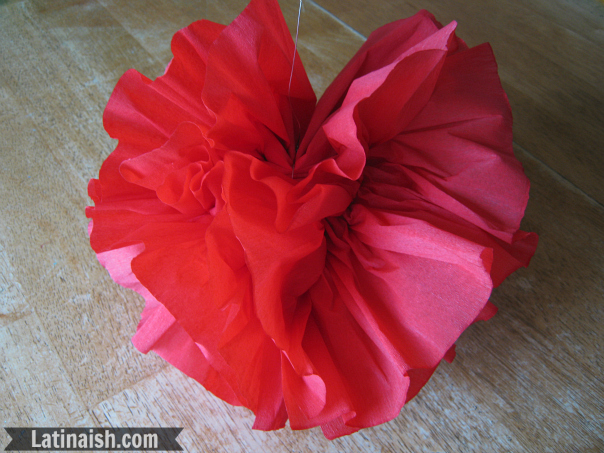 How to make paper fiesta flowers for hanging latinaish floresstep8latinaish mightylinksfo