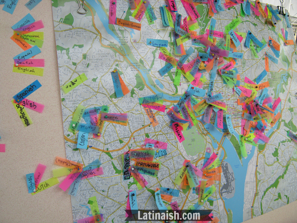 Look at all the languages spoken in the DC area.