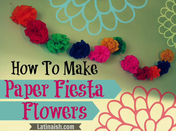 How to make mexican fiesta crepe paper flowers mexican crepe paper how to make paper fiesta flowers for hanging latinaish mightylinksfo