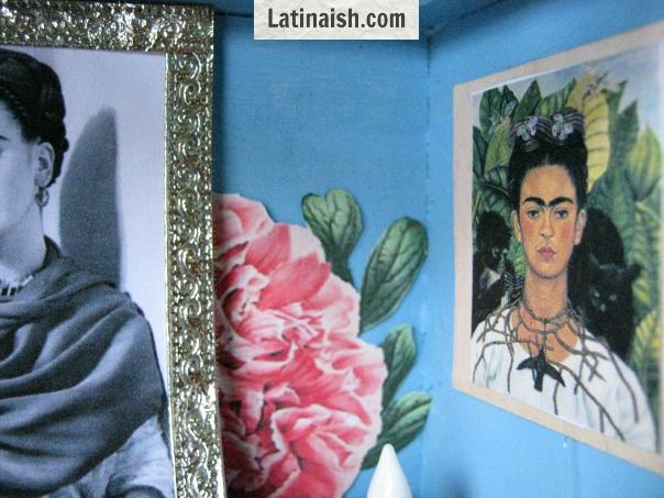 Frida Kahlo nicho for Día de los Muertos