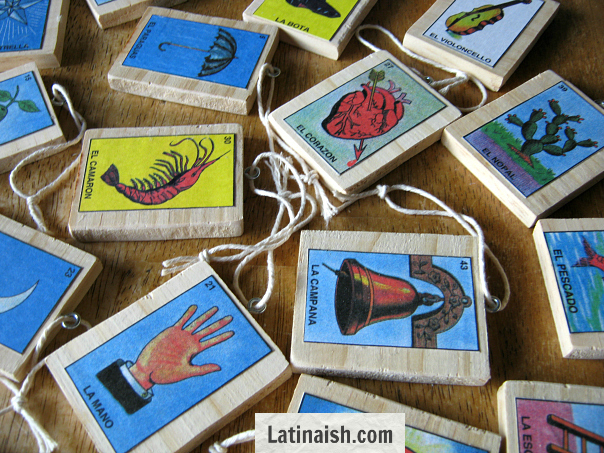 Do-it-yourself Mexican Bingo Lotería Ornaments