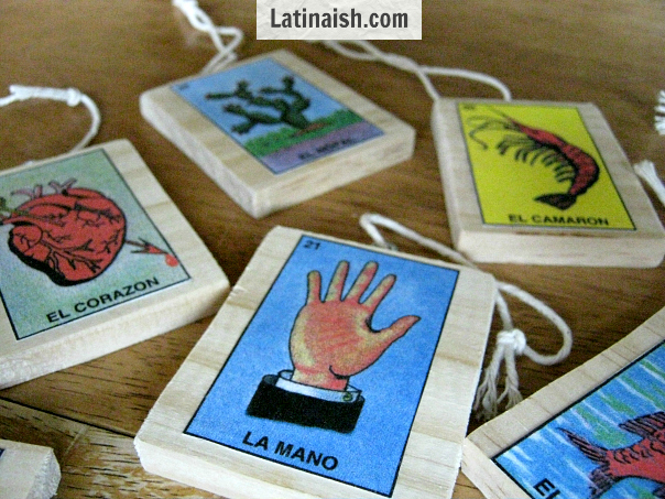 How to make your own Lotería Ornaments