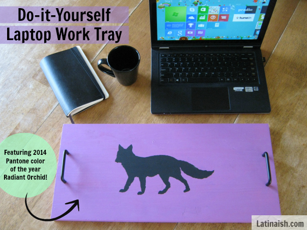 D.I.Y. Fox Laptop Work Tray featuring Pantone 2014 color of the year