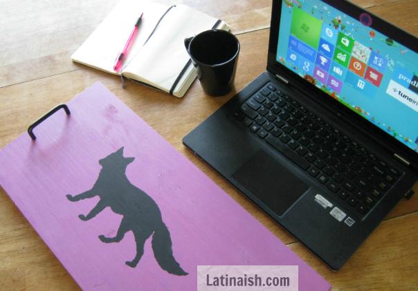 DIY fox laptop work tray - Latinaish.com