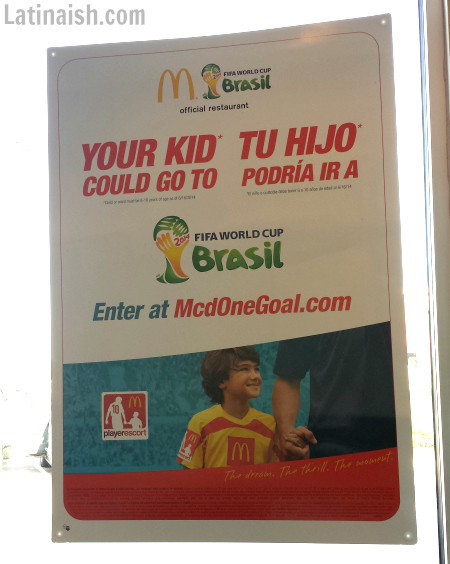 Your niño could be a player escort at the World Cup!