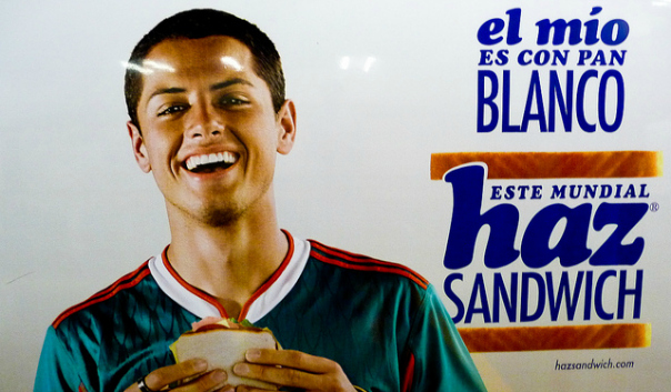 Oh my! Chicharito, you like white bread? Why didn't you say so? Aquí estoy, guapo.
