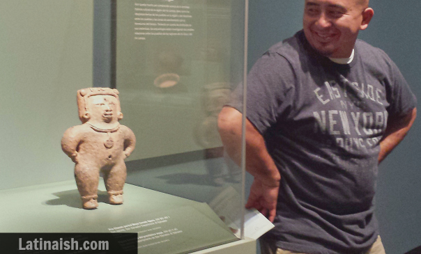 """Carlos said, """"Hey, this one looks like me!"""" even though I told him that usually statues with hands on the hips are females."""