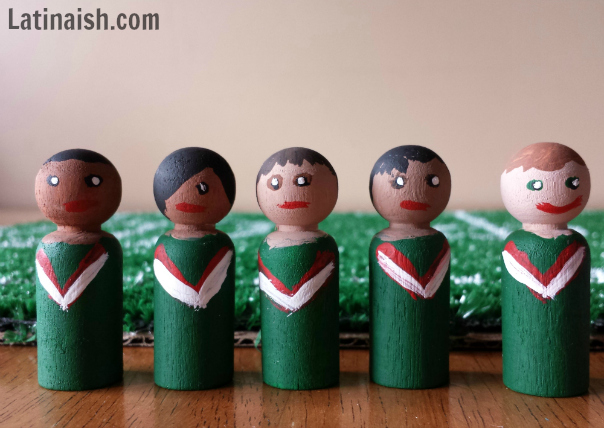 Mexican soccer players dolls