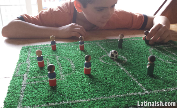 DIY Tabletop Soccer Playset