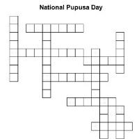 National Pupusa Day Crossword