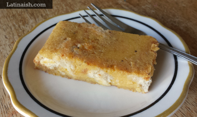 Budin de Platano, Salvadoran Plantain Bread Pudding