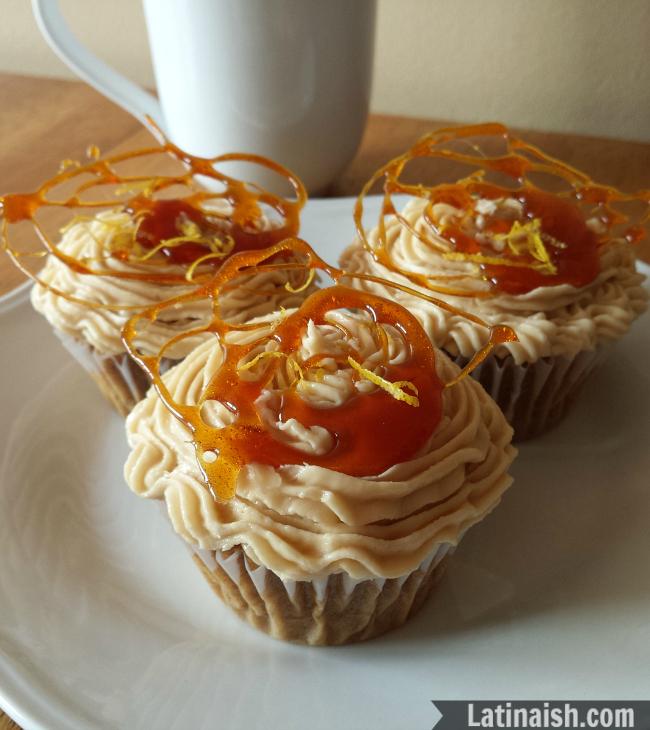 Carajillo Quemado Cupcakes // Spanish Coffee Rum Cupcakes