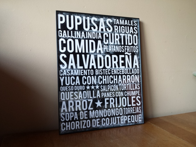 Salvadoran food poster