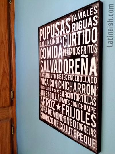 comida salvadorena poster