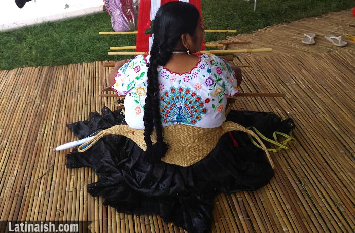 Peruvian woman weaving