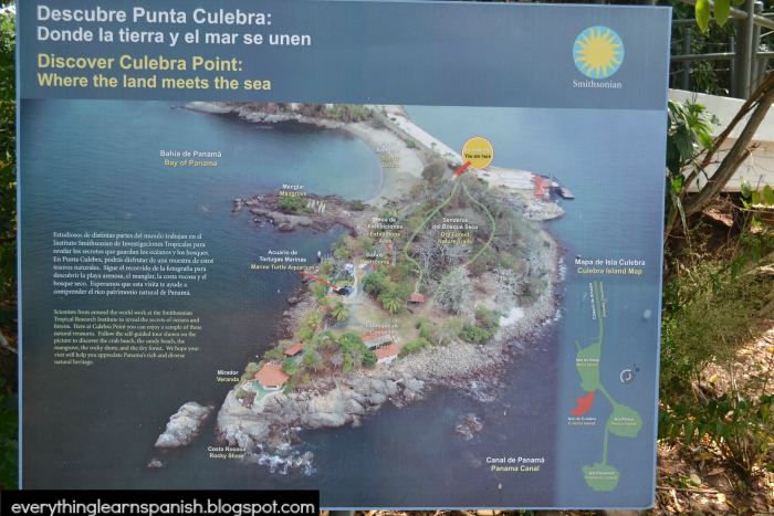 Entrance sign at Punta Culebra - The Smithsonian Tropical Research Institute Museum