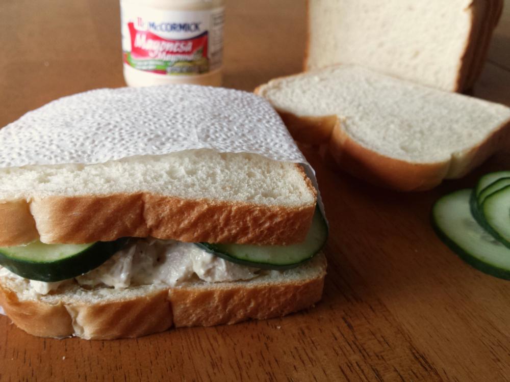 Salvadoran Birthday Party Chicken Sandwich